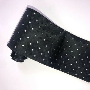 DKNY Black with Small Silver Squares Tie T180